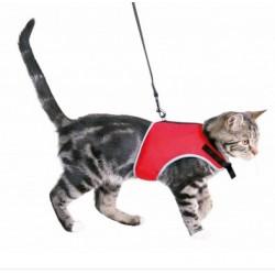 harnais-chat-souple-rouge-trixie-lyon